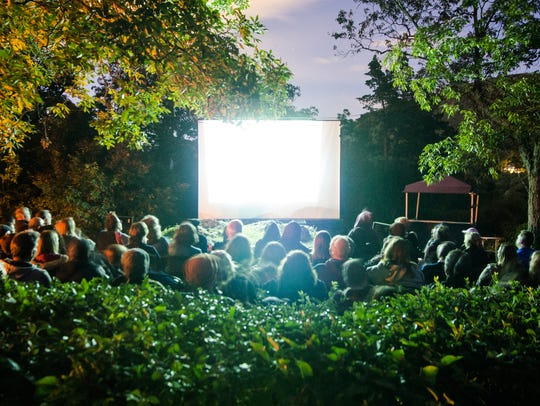 Watching a movie under the stars on Bannerman Island