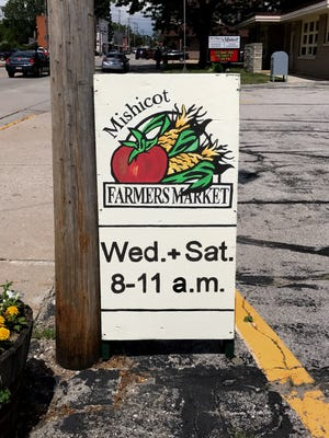 The Mishicot Farmers' Market is from 8 to 11 a.m. every Wednesday and Saturday in the Village Hall parking lot.
