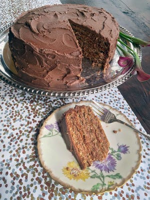 """Although this recipe from a """"Dining in Milwaukee"""" cookbook published by the Milwaukee Sentinel in 1981 doesn't mention coffee — which paired with chocolate is classic """"mocha"""" — if you'd like to add coffee flavor, you can mix 4 teaspoons of instant espresso powder into the frosting."""