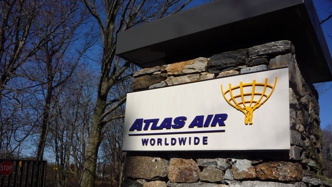 The gate to the Atlas Air headquarters at 2000 Westchester Ave., Purchase.