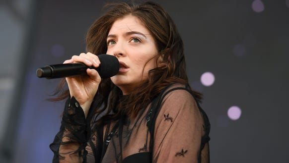 Lorde performs on Day 1 of Governors Ball music festival