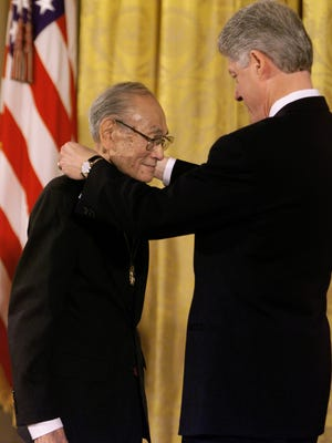 Fred Korematsu received the Presidential Medal of Freedom from President Bill Clinton in 1998.