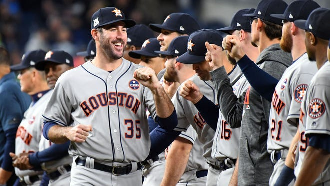 Justin Verlander fronts a rotation with six solid options, and the Astros will have his services for an entire season.