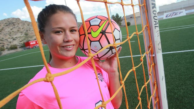 Brianna Thomas is a forward on the Miners' soccer team.