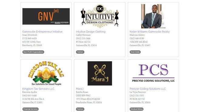 "The Gainesville Black Professionals' newly launched online ""Minority Business Directory"" features more than 100 businesses in industries such as real estate, beauty, clothing, fitness, finance, health care and more. To get listed in the directory, visit https://bit.ly/314WjQm."