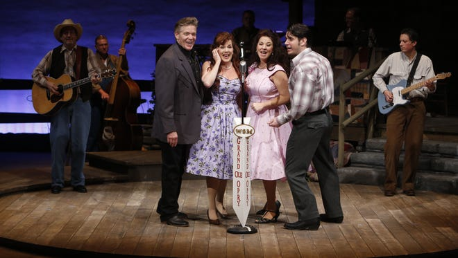 """The cast of """"Ring of Fire: The Music of Johnny Cash,"""" featuring (from left) Jason Edwards, Allison Briner, Trenna Barnes and Derek Keeling."""