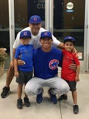 Jeremiah Estrada made his Cubs rookie league debut Wednesday in Mesa, Ariz.