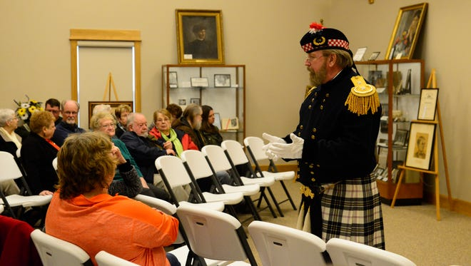 Scott Thomas of Pennsylvania re-enacts James B. McPherson, the famous Civil War general from Clyde, at the Clyde Museum and McPherson House.