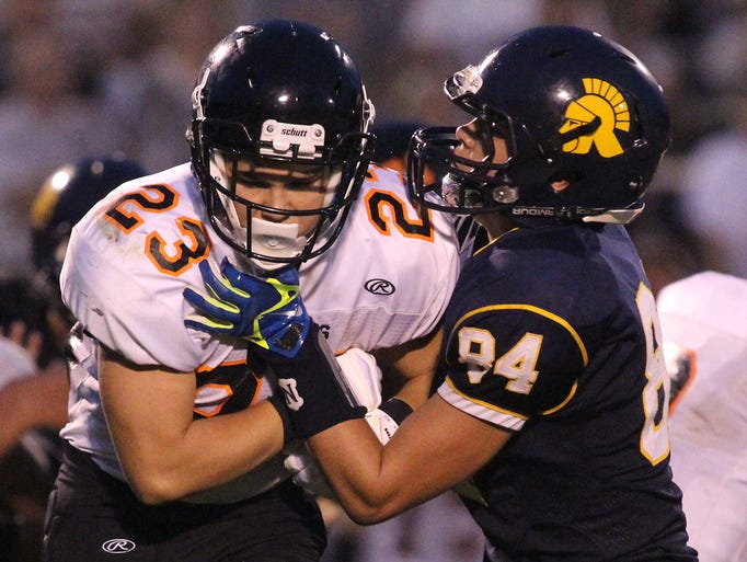 Wausau West came from behind and beat Marshfield, 27-20, Friday, August 22, 2014 at Thom Field in Wausau.