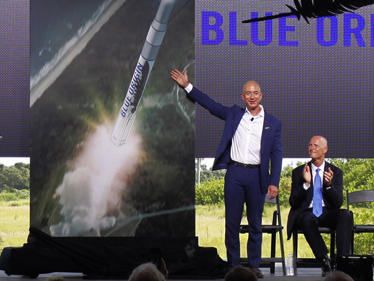 In September 2015, Blue Origin founder Jeff Bezos, joined by Florida Gov. Rick Scott, announced plans to build and launch New Glenn rockets on the Space Coast.