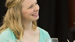 Sophomore Carlee George was a guest speaker at the annual Legacy Luncheon.