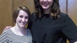 Tara Partington (left) and Krista Bennett (right) were winners at the essay contest.