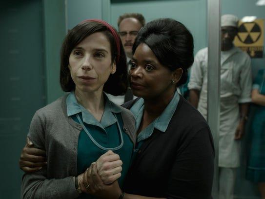 The film stars Sally Hawkins, left, and Octavia Spencer