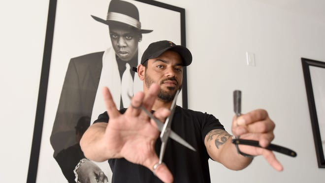 Johnny Castellanos of Englewood has been cutting Jay Z's hair every week since 1997. This means flying at the artist's expense to wherever Jay Z happens to be, whether it's Los Angeles, Tokyo or on safari in Africa.