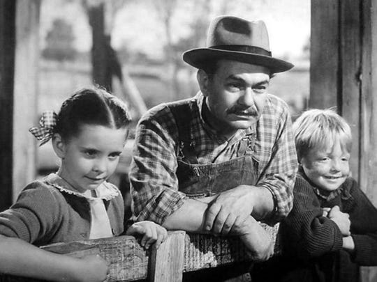 Publicity still from 'Our Grapes Have Tender Vines' with Edward G. Robinson and Jackie-Jenkins---1945-MGM.