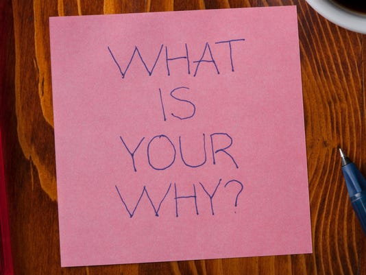 Sticky note with tex what is your why