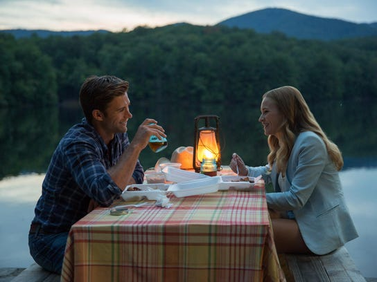 Britt Robertson, right, and Scott Eastwood appear in