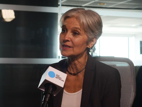 Green Party of the U.S. presidential candidate Jill Stein sits down for an interview on Friday, July 15, 2016, at the Burlington Free Press in Burlington, Vt.