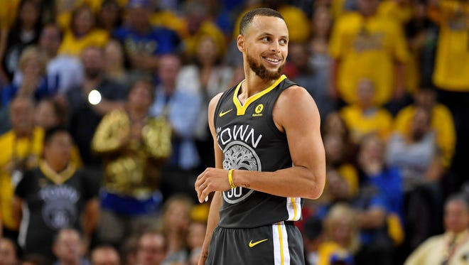 Golden State Warriors guard Stephen Curry during an NBA Finals game against the Cleveland Cavaliers in June.