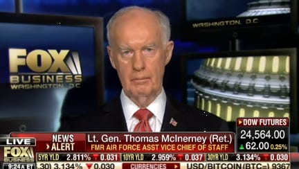Lt. Gen. Thomas McInerney appears on Fox Business Network.