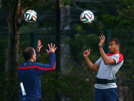 World Cup USA practice before Germany