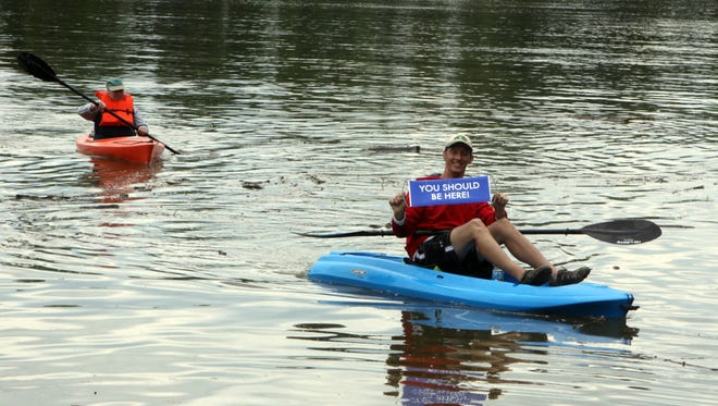 Kayaking enthusiast David Rhodes sent a message as he completed the 2014 Tour de Clarksville. It's time to hit the Blueways again this weekend.