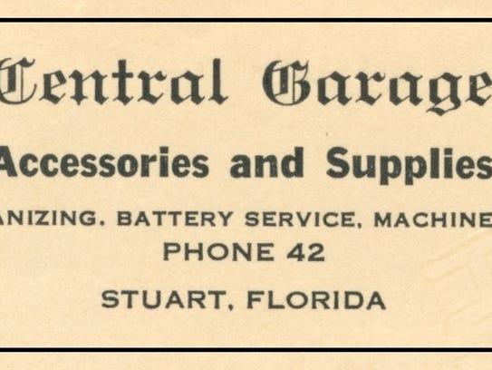The Krueger Central Garage advertisement in 1922.