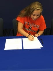 Delmar's Peyton Kemp signs her National Letter of Intent