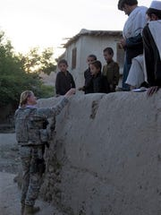 Marjorie K. Eastman during a tour in Afghanistan