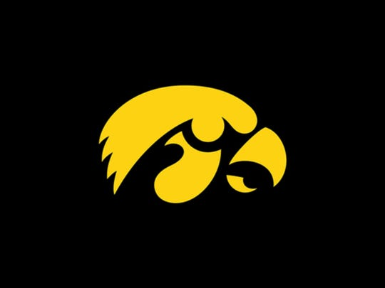 The Iowa Hawkeye logo.