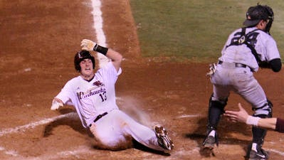 Jacob Stockton (12) and the rest of ULM's 10 seniors find themselves in a familiar position fighting to get into the Sun Belt tournament late in the regular season.