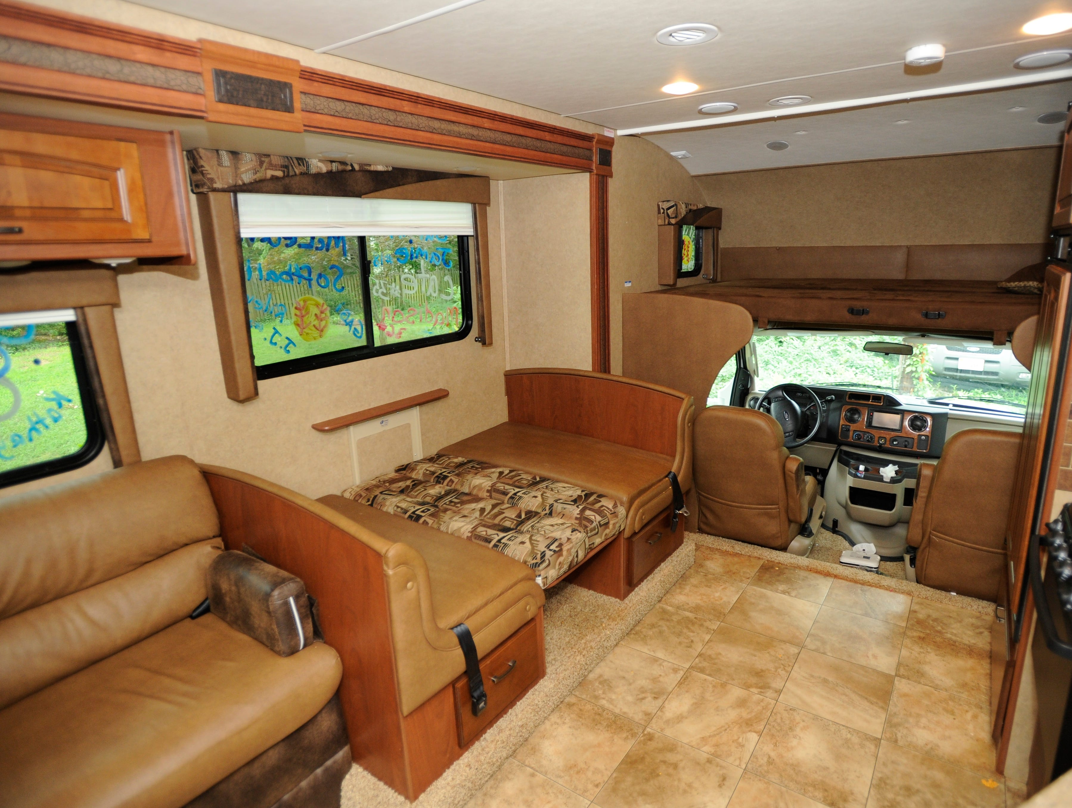 The RV O'Donnell rented was a Jayco Greyhawk, which has a table that converts to a bed.