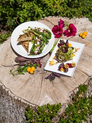 The grilled romaine salad and the roasted beet salad