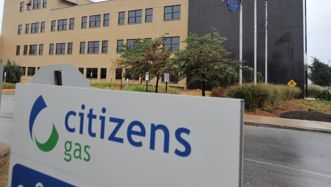 Citizens Energy Group logo on the building at 2020 N. Meridian Street in Indianapolis Sunday September 2, 2012. Joe Vitti / The Star