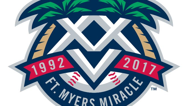 The Fort Myers Miracle's 25th anniversary logo