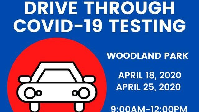 Free COVID-19 testing will be offered Saturday at Woodland Park from 9 a.m. to noon. The testing process keeps people in their cars, where participants will be asked a series of questions regarding symptoms before receiving a nasal swap. Testing will also be available next Saturday, April 25.