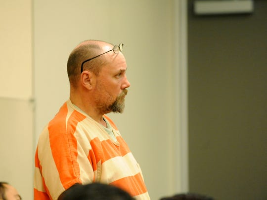 Richard Eugene Simmons appearing in court.