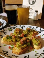 The Spicy Avo and Cuc Crostini ($9) with avocado cucumber relish and fresh jalepeño.