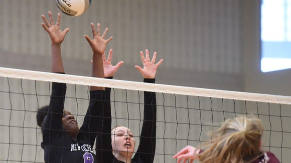 New Rochelle's Olivia Morgan, left, and Anna Gussenhoven,