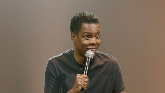 Comedian Chris Rock, seen in his new Netflix stand-up special, 'Tamborine.'
