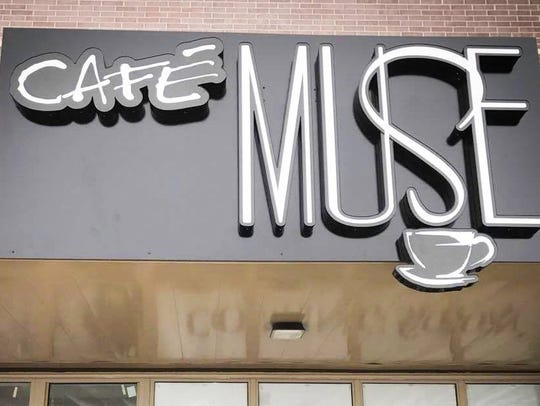 A sign for Cafe Muse in North Liberty.