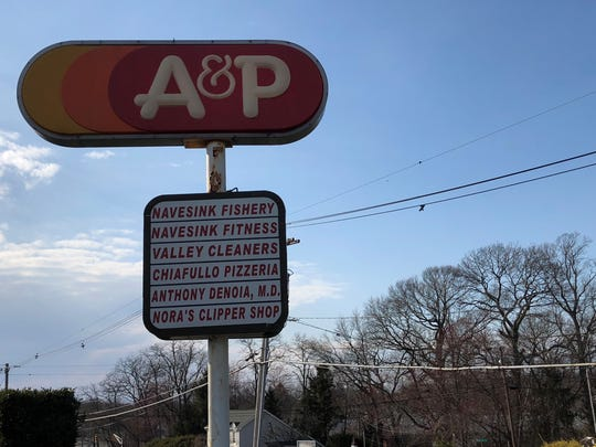 The A&P shopping plaza on Route 36 in Middletown.