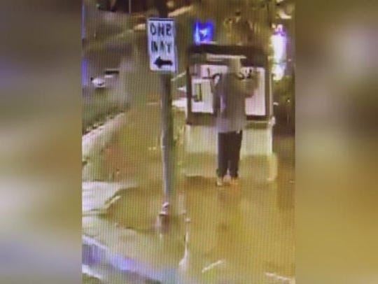 Marathon County Crime Stoppers is asking for your help to identify a male suspect vandalizing property in downtown Wausau. As pictured, a suspect was observed on video surveillance committing this crime.