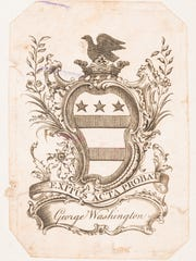 George Washington's book plate is in the 1789 book