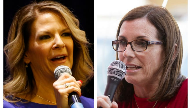 Kelli Ward (left) and Martha McSally are Republican candidates for U.S. Senate.