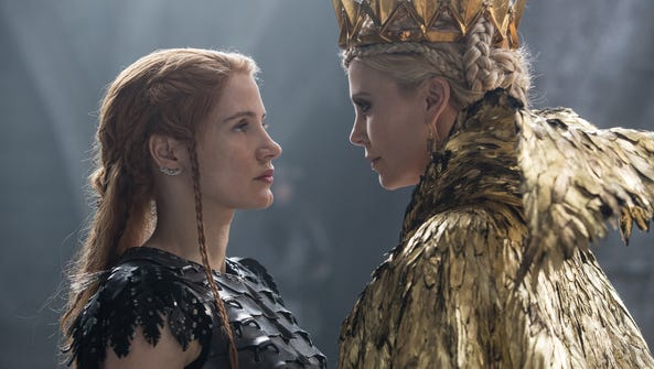 "Jessica Chastain and Charlize Theron in ""The Huntsman:"
