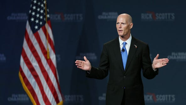 Gov. Rick Scott will be in Washington Wednesday and