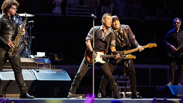 Bruce Springsteen and members of the E Street Band.
