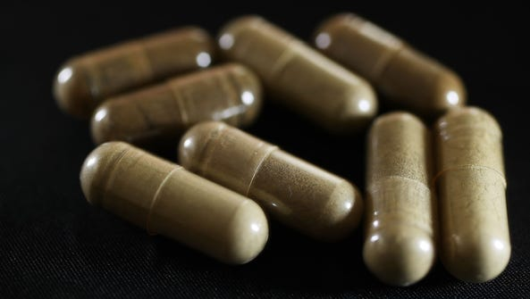 Capsules of the drug Kratom are seen on May 10, 2016