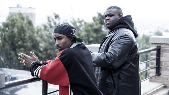 Marcc Rose as Tupac Shakur and Wavyy Jonez as Christopher